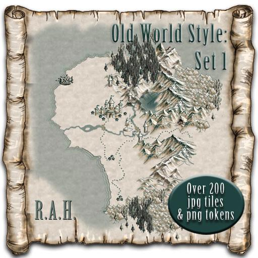 Old World Style Maps