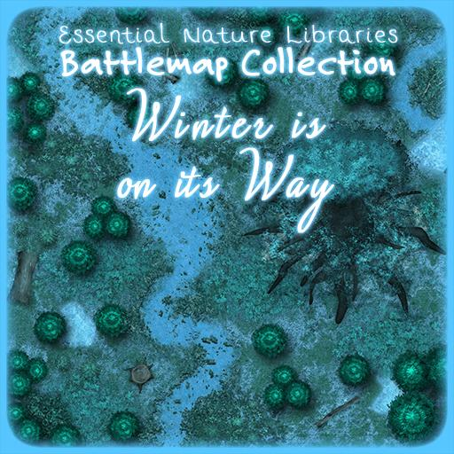 Essential Nature Libraries Battlemaps: Winter is on Its Way