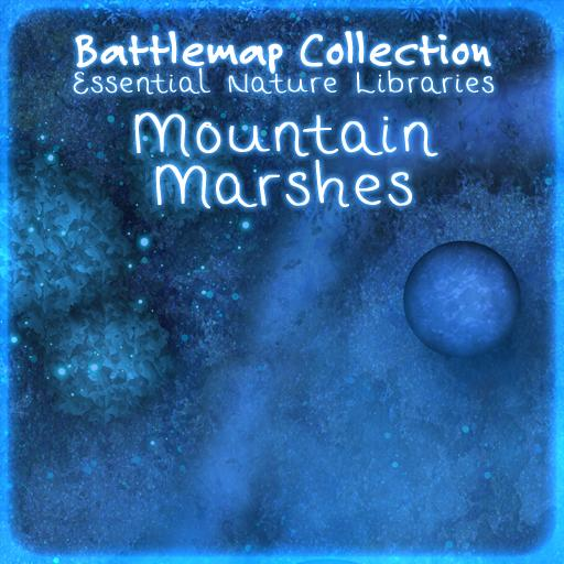 Essential Nature Libraries Battlemaps: Mountain Marshes