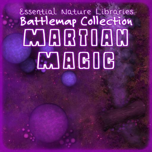 Essential Nature Libraries Battlemaps: Martian Magic