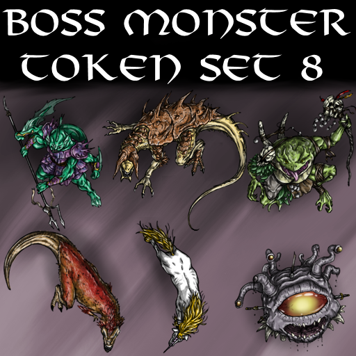 Boss Monster Token Set 8