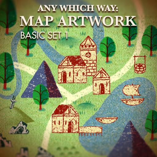Any Which Way: Map Artwork Basic Set 1