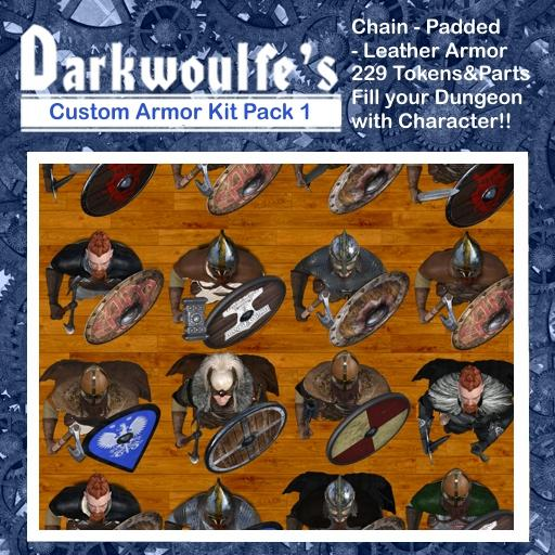 Darkwoulfe's Token Pack - Customizable Armor Kit Pack 1 - Northmen