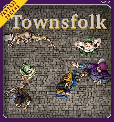 Fantasy Tokens Set 2, Townsfolk
