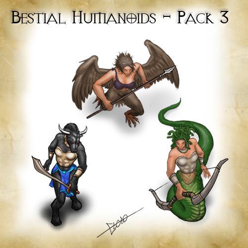 Bestial Humanoids - Pack 3