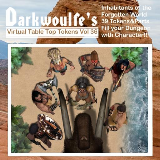 Darkwoulfe's Token Pack Vol36 - Inhabitants of the Forgotten World