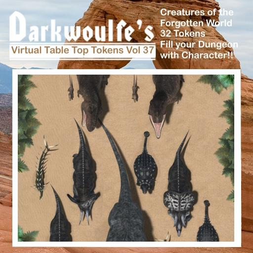 Darkwoulfe's Token Pack Vol37 - Creatures of the Forgotten World