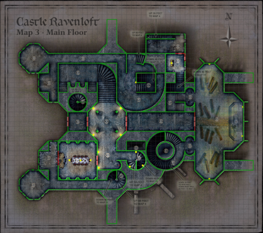 Castle Ravenloft Map Pack Roll20 Marketplace Digital