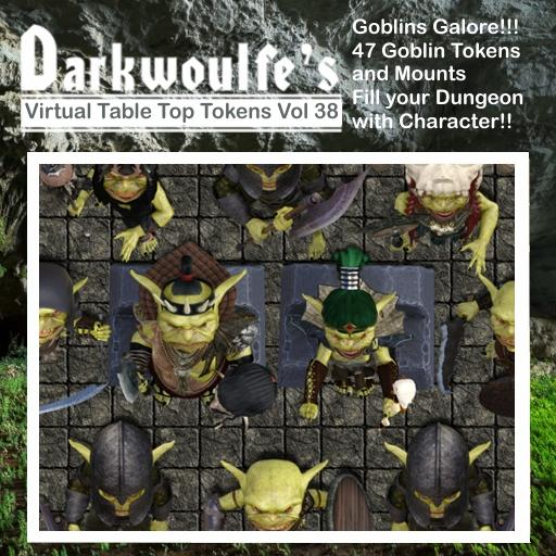Darkwoulfe's Token Pack Vol38 - Goblins Galore