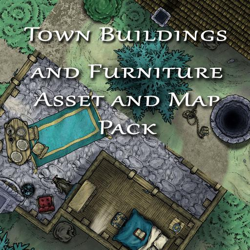 Town Building and Furniture Asset and Map Pack