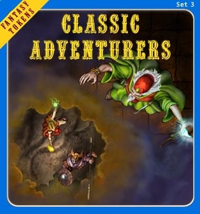 Fantasy Tokens Set 3 - Classic Adventurers