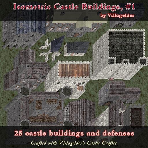Isometric Castle Buildings, #1