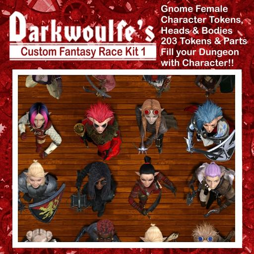 Darkwoulfe's Token Pack - Customizable Races Kit Pack 1 - Gnomes I