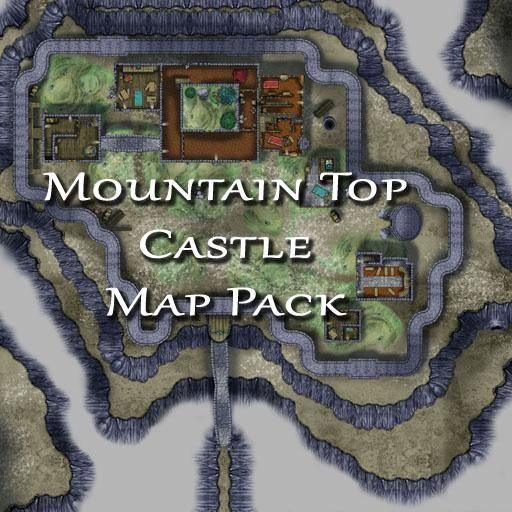 Mountain Top Castle Map Pack Roll20 Marketplace Digital
