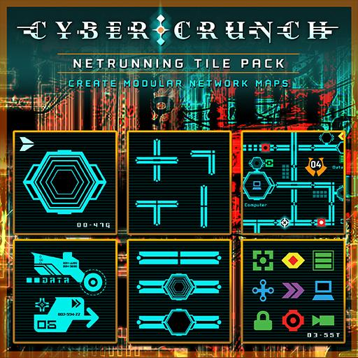 CYBER CRUNCH Netrunning Tile Set