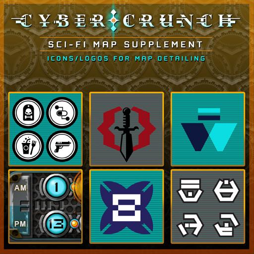 CYBER CRUNCH Sci-fi Map Supplement