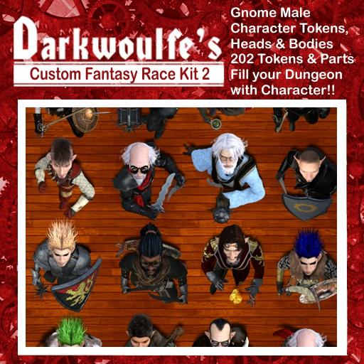 Darkwoulfe's Token Pack - Customizable Races Kit Pack 1 - Gnomes II