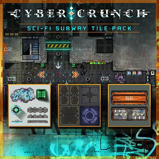 CYBER CRUNCH Sci-fi Subway Tile Set