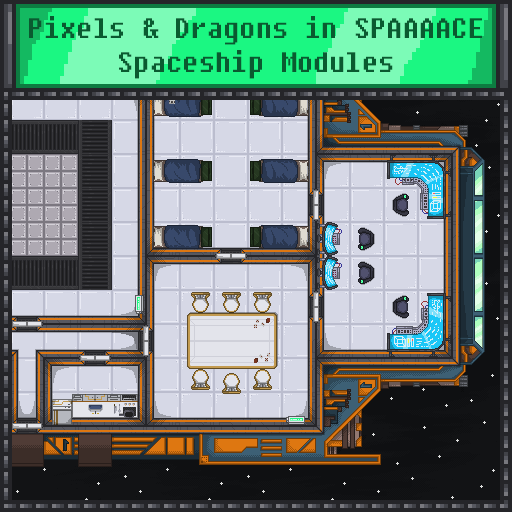 Pixels and Dragons in SPAAAACE - Spaceship Modules