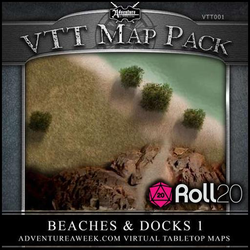 VTT Map Pack 01: Beaches & Docks