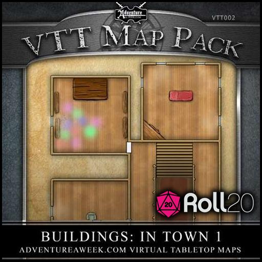 VTT Map Pack 02: Buildings in Town 1