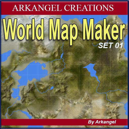 World map maker set 01 roll20 marketplace digital goods for includes arctic tropic and desert connectable lands textures mountains and forest for you to create a macro view atlas map style of your world gumiabroncs Gallery