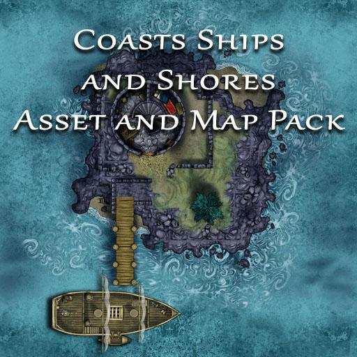 Coasts Ships and Shores Asset and Map Pack