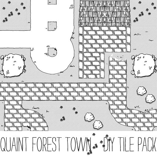 Quaint Forest Village Tile Set