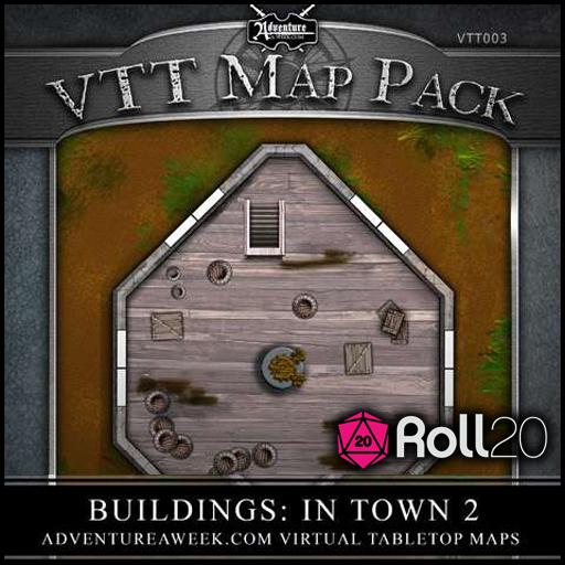 VTT Map Pack 03: Buildings in Town 2