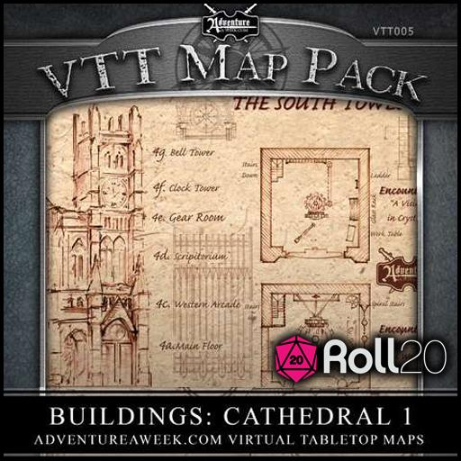 VTT Map Pack 05: Buildings - Cathedral 1