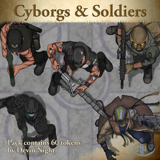 99 Cyborgs Amp Soldiers Roll20 Marketplace Digital