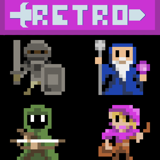 Retro Pixel Human Classes