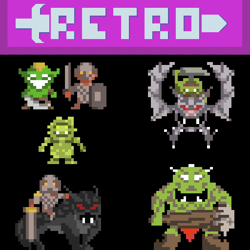 Retro Pixel: Orc Boys and Goblinoids