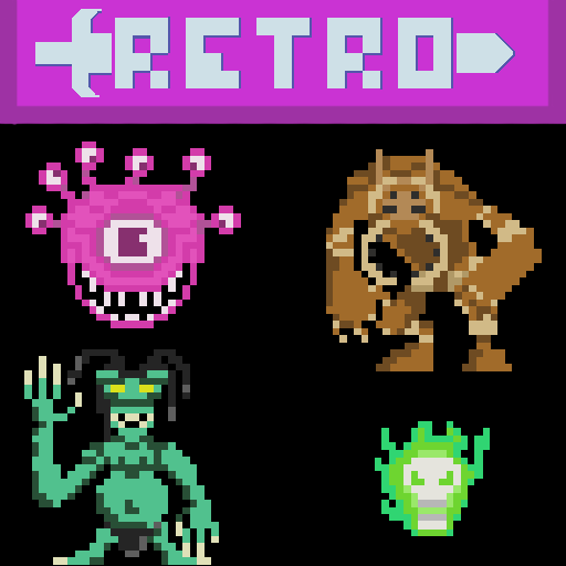 Retro Pixel Dungeon Monsters