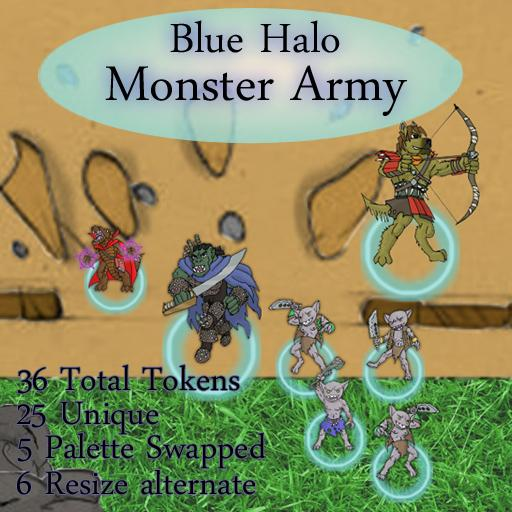 Blue Halo Monster Army