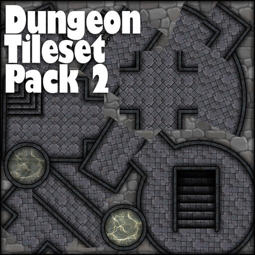 Dungeon tile set pack 2