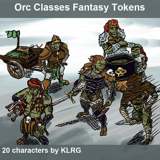 KLRG Token Pack 2 - Orc Classes Fantasy