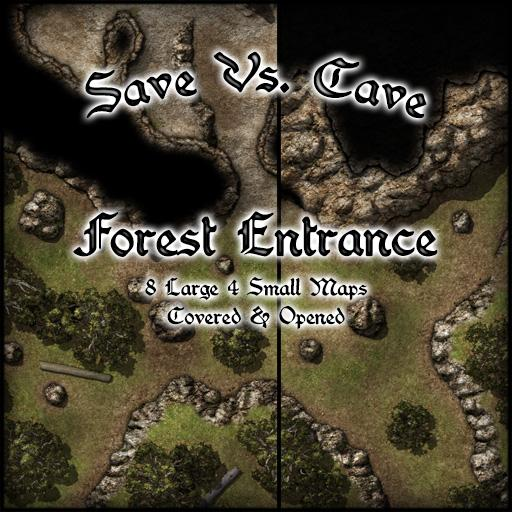 Save Vs. Cave Forest Entrance