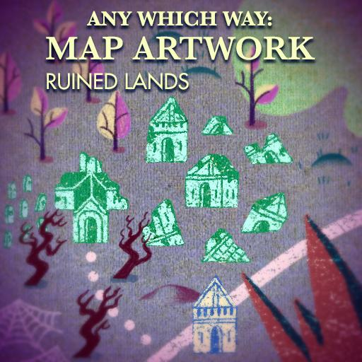 Any Which Way: Map Artwork Ruined Lands