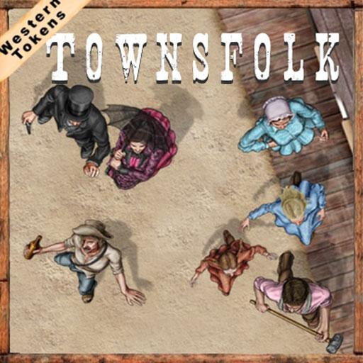 Western Tokens Townsfolk