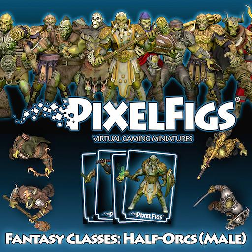 PixelFigs® Fantasy Classes: Half-Orcs (Male)