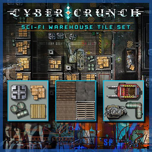 CYBER CRUNCH Sci-fi Warehouse Tile Set