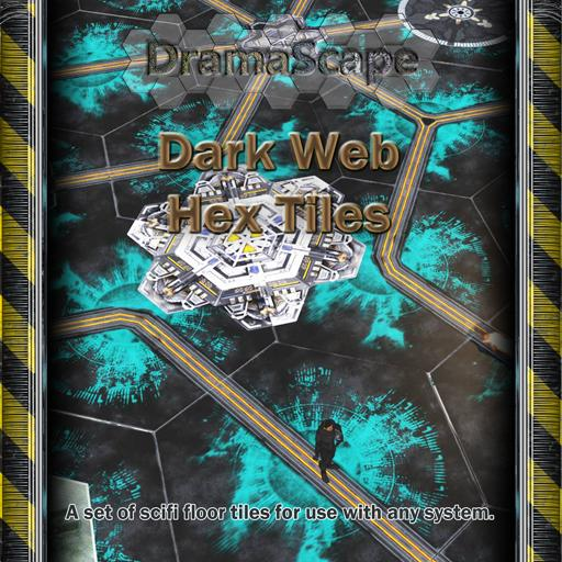 Dark Web Hex Tiles