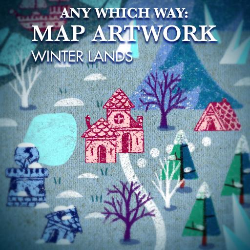 Any Which Way: Map Artwork Winter Lands