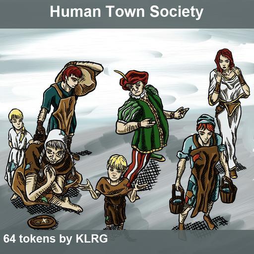 KLRG Token Pack 3 - Human town society