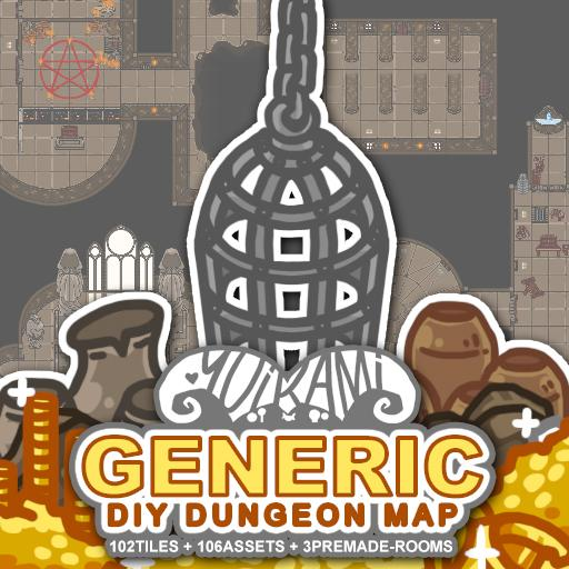 Generic DIY Dungeon Map
