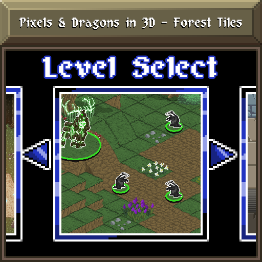 Pixels and Dragons in 3D - Forest Tiles