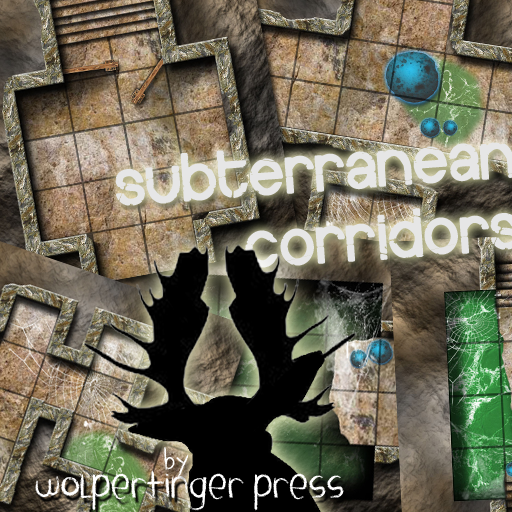 Subterranean Corridors Dungeon-On-Demand Map Pack