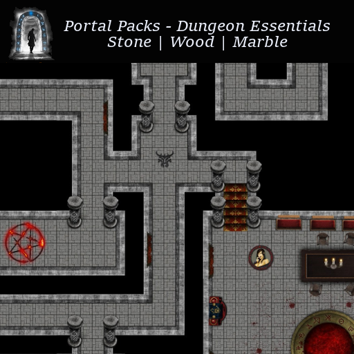 Portal Packs - Dungeon Essentials - Stone | Wood | Marble