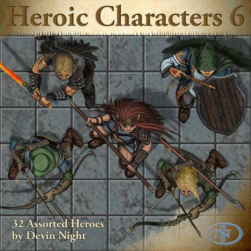 58 Heroic Characters 6 Roll20 Marketplace Digital